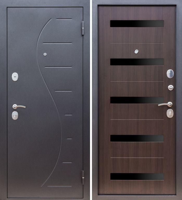Металлическая входная дверь, Тайгер Вираж (муар/венге тисненный)