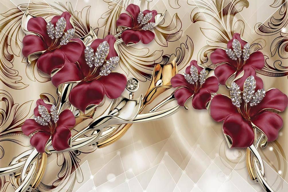 Фотообои Красные декоративные лилии, арт: 36814
